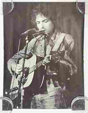 (2) Vintage Posters Bill Ray Bob Dylan George Harrison