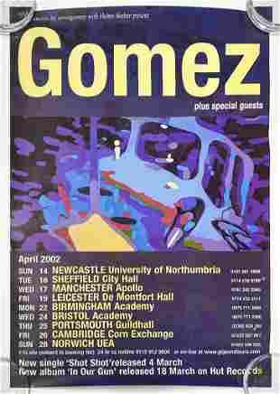 Gomez UK Tour 2002 Concert Poster