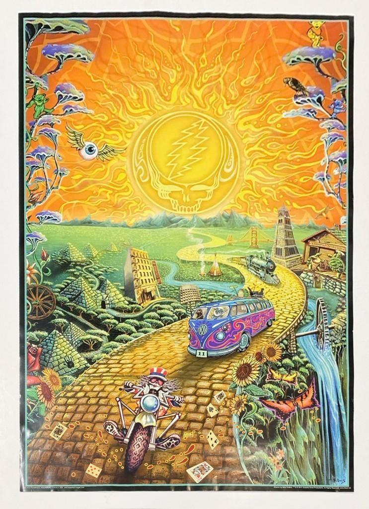 2017 M. Dubois Grateful Dead Poster Aquarius