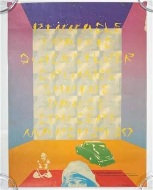 John Van Hamersveld Pinnacle Concert Poster 1968