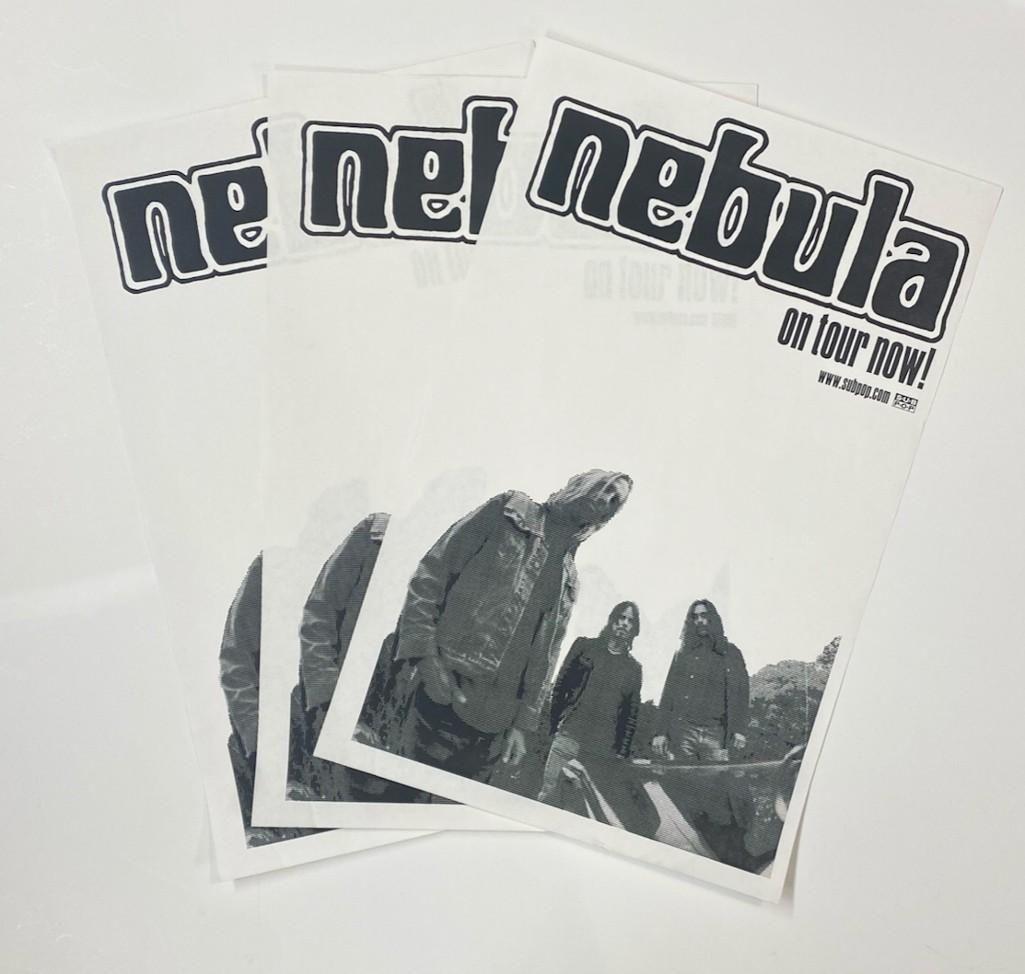 Three (3) Nebula Sub Pop Records Tour Poster