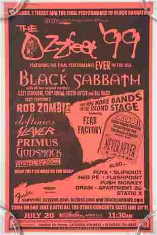 1999 Ozzfest Black Sabbath Final US Performance Poster