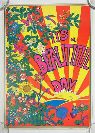 Eugene Anthony Blacklight Poster 1969 Beautiful Day