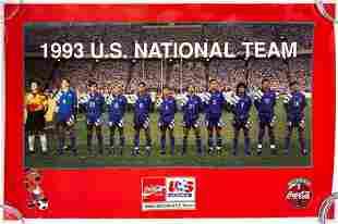1993 World Cup Team USA Soccer Poster Coca-Cola