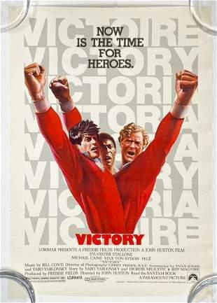 Victory 1981 Movie Poster Vintage Soccer Football Movie