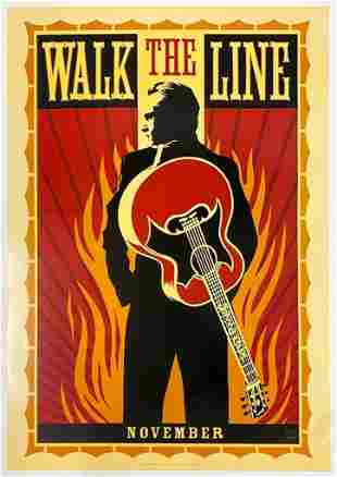 Walk the Line 2005 Poster One Sheet Johnny Cash