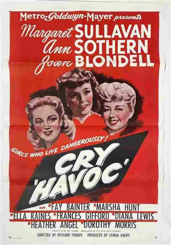 Original Cry Havoc 1943 Movie Poster One Sheet