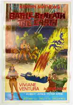 Battle Beneath the Earth 1967 Movie Poster One Sheet