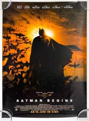 Batman Begins 2005 Poster German Warner Bros. DC Comics