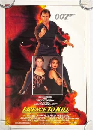 James Bond 007 License to Kill 1989 Poster UA