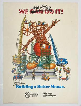 1978 Walt Disney Tokyo Poster Disneyland Mickie Mouse