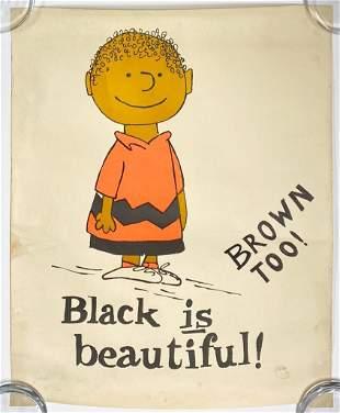 Charles Schultz Black is Beautiful Poster Peanuts