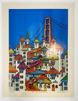 Fred Bonn Signed Print 93/300 San Francisco