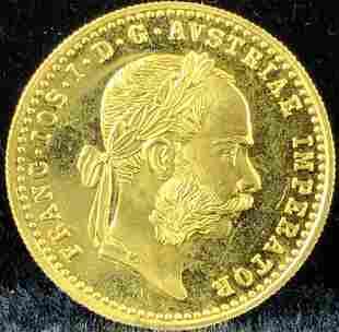 1915 Austria Ducat Gold Coin .986 Gold 3.49 gram