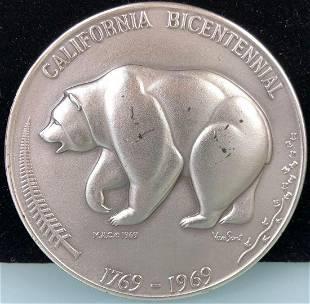 1969 .999 Silver California Bicentennial Tom Van Sant