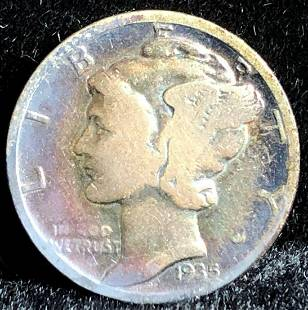 1935 Mercury Dime