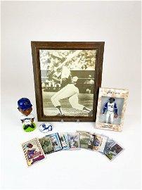 Lot of Hank Aaron Memorabilia Bobble Head Cards +
