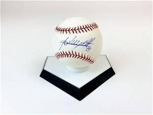 Adrian Beltre Signed Baseball