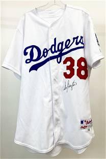 Signed Eric Gagne #38 Authentic Dodgers 2002 Baseball
