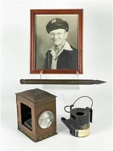 Lot Joe Gleason (1881-1959) Photo & Nautical Items