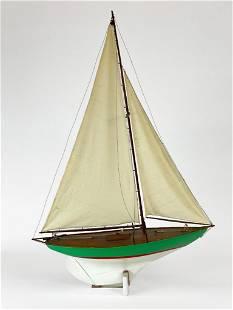 Model Sailboat from Duncan Gleason Estate