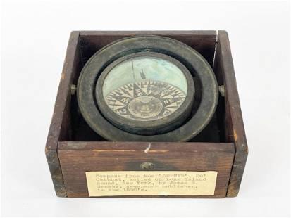 1890s Ship's Compass From The Zephyr Joe Duncan Gleason
