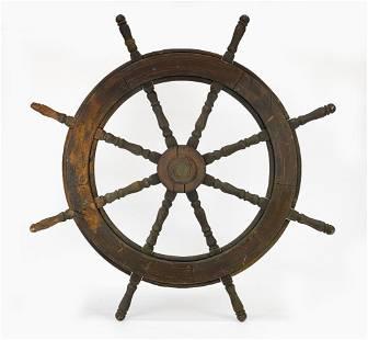 Antique Ship Wheel Joe Duncan Gleason Collection