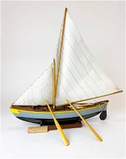 Vintage Model Sailboat by Marvin Hutchins