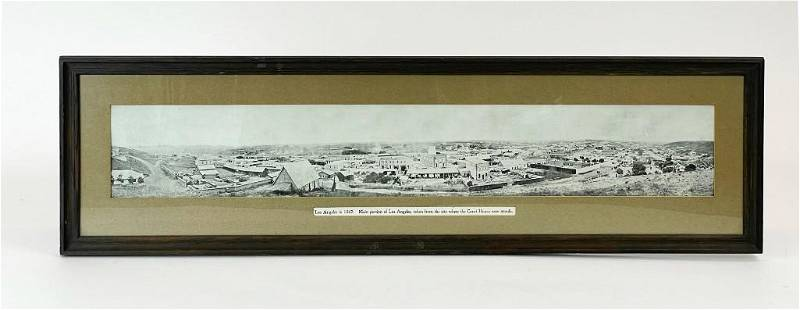 Panoramic Photo of Los Angeles 1869