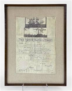 Pres. Andrew Jackson (1767-1845) Signed Ship Passport