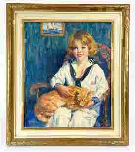 Joe Duncan Gleason (1881-1959) Oil on Canvas Portrait