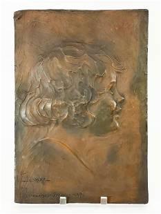 Lora Woodhead Steere (1888-1984) Plaster Relief 1927