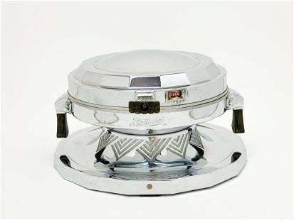 GE Hotpoint Ambassador Chrome Waffle Iron 1931
