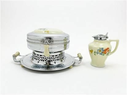 Universal Floral China Waffle Maker No. E6324
