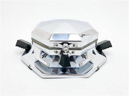 Dominion Modern Mode Chrome Auto Waffle Iron 1930s