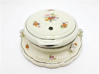 Porcelier Porcelain Waffle Iron Electric 1930s No. 4003