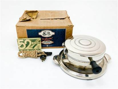 Hotpoint New Yorker Waffle Iron W/ Box 1930s