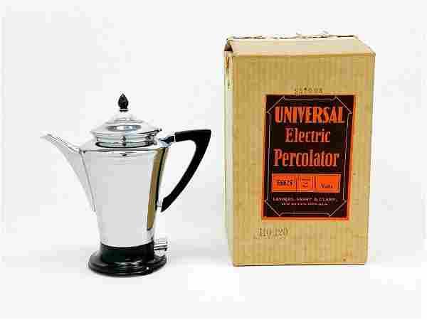 Universal Beaumonde Chrome Black Trim 6 Cup Coffee