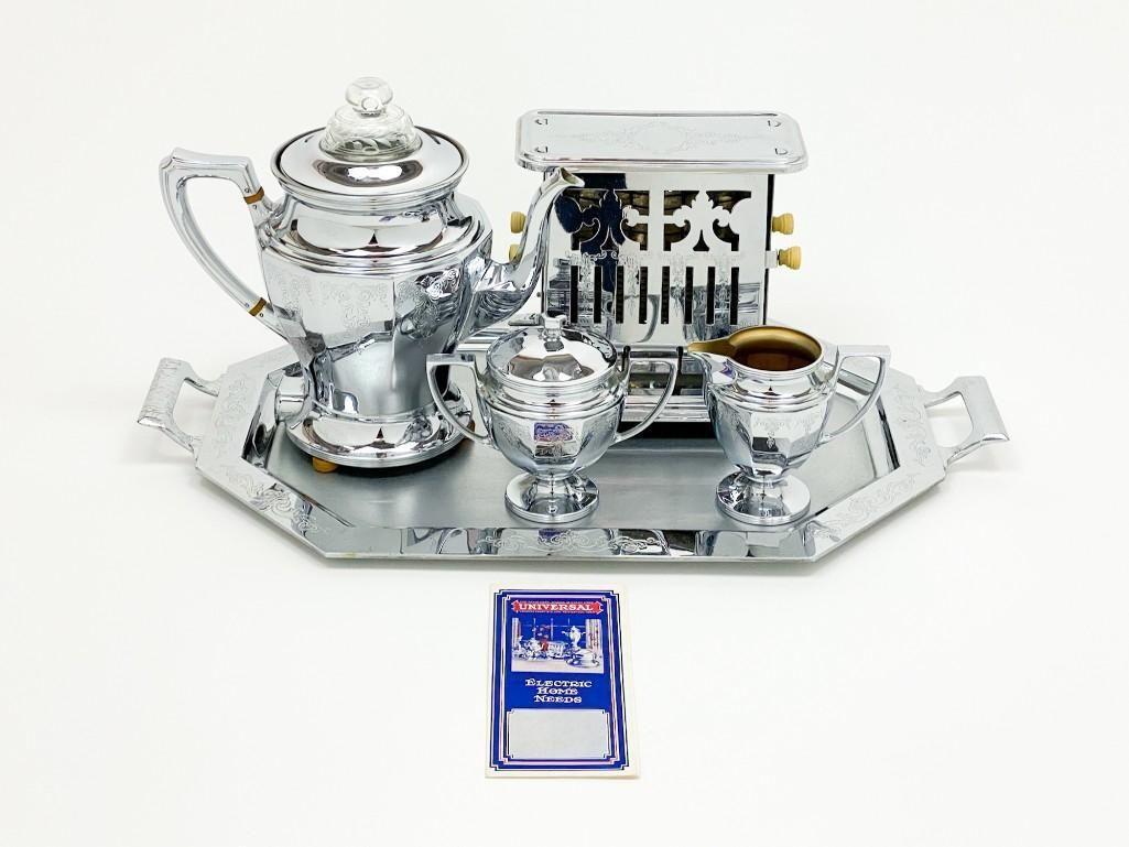 Universal Breakfast Coffee Tea Toast Set Chrome 6 Cup