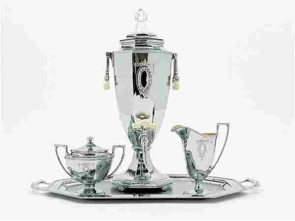 Universal Lafayette Chrome 9 Cup Coffee Set 1931