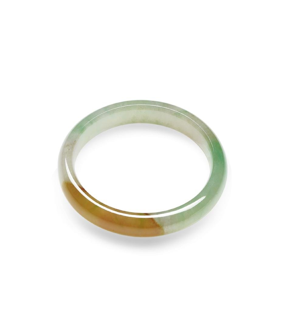 A Pair of Bi-Color Icy Jadeite Bangles - 2