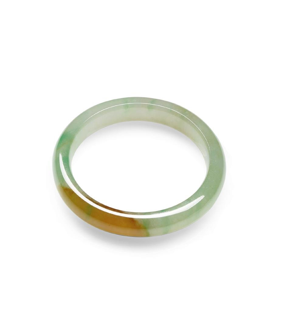 A Pair of Bi-Color Icy Jadeite Bangles - 3