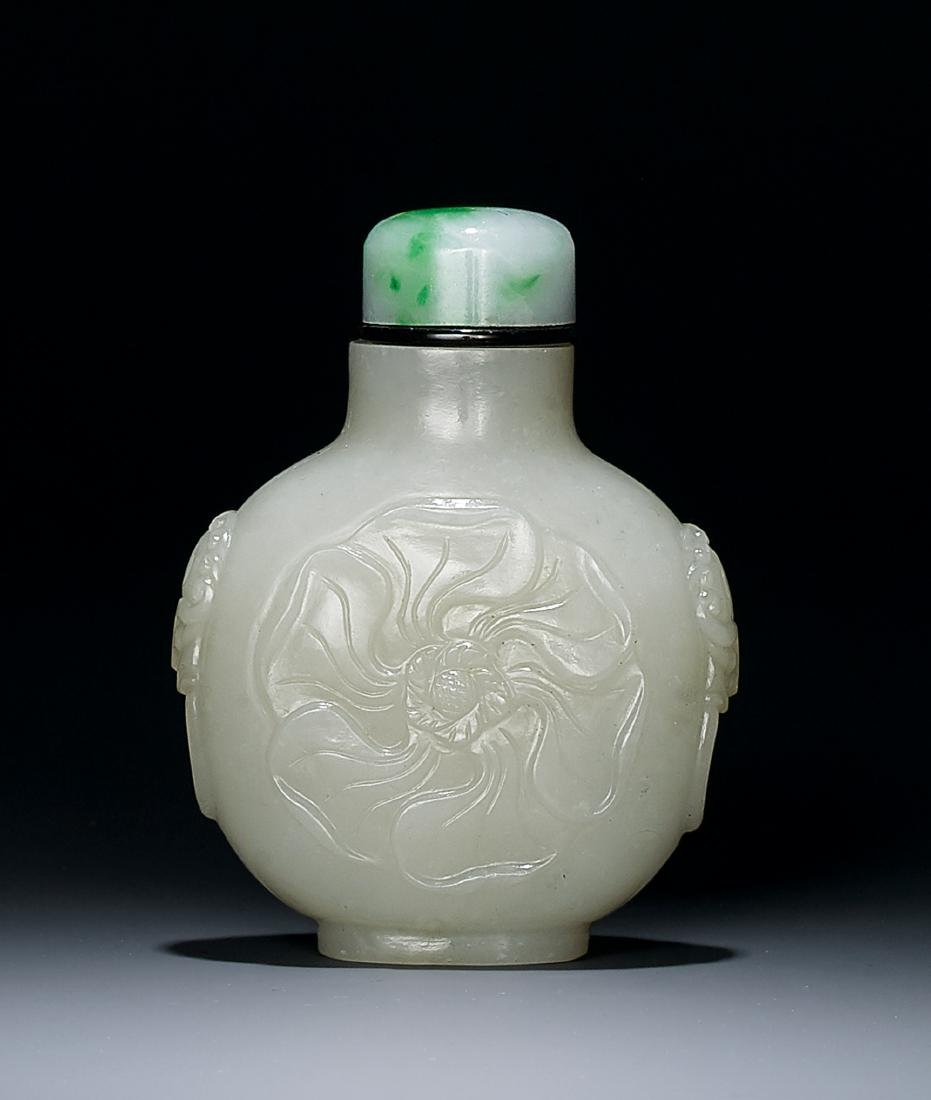 A White Jade Snuff Bottle Qing Dynasty