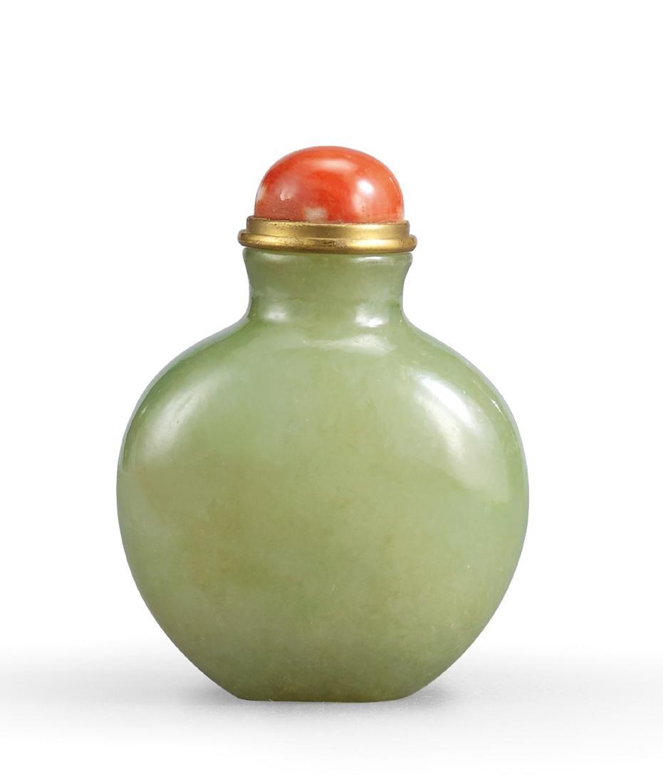 A Jadeite Snuff Bottle Qing Dynasty