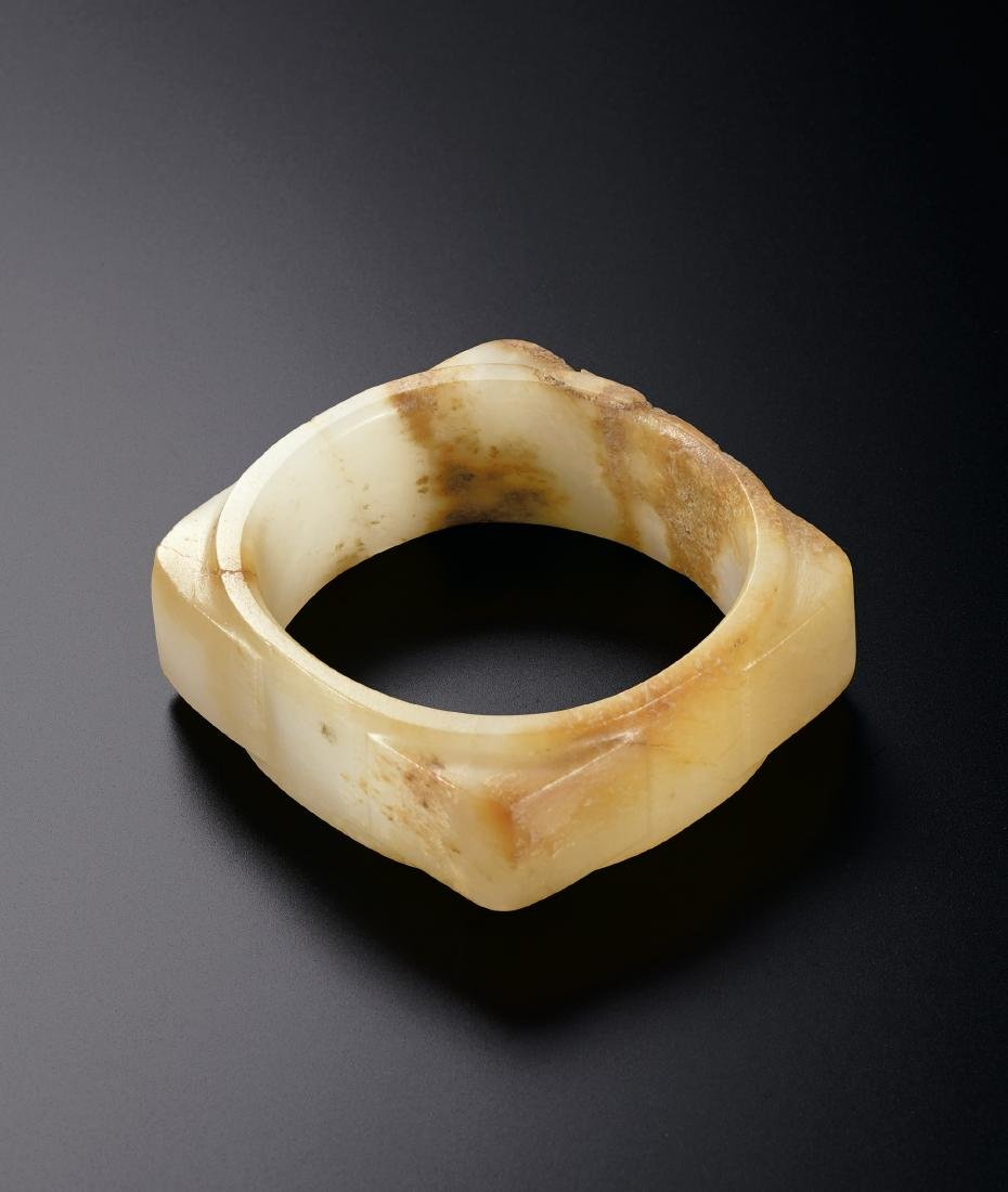 A White Jade Cong Neolithic Period