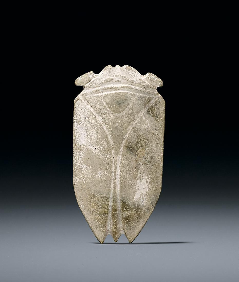 A Celadon Jade Cicada Han Dynasty