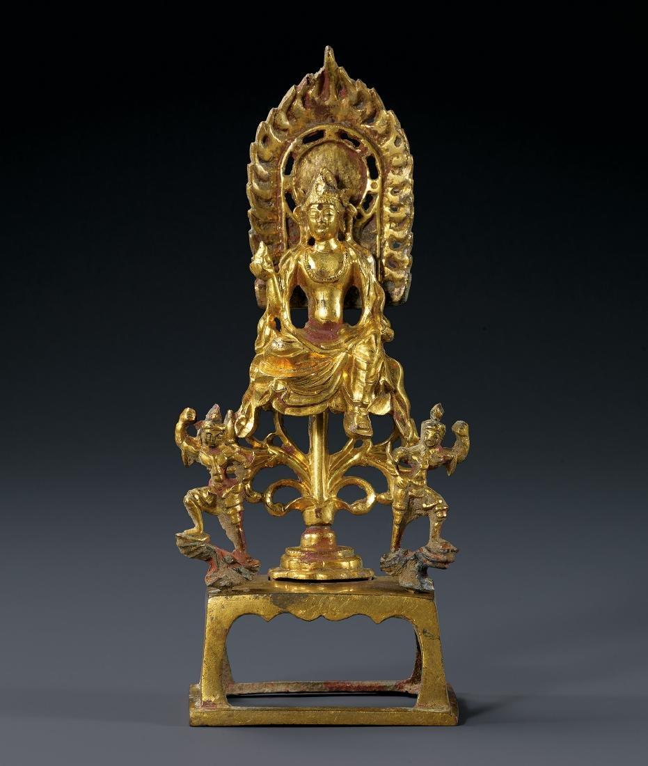 A Gilt-Bronze Figure of Bodhisattva Tang Dynasty
