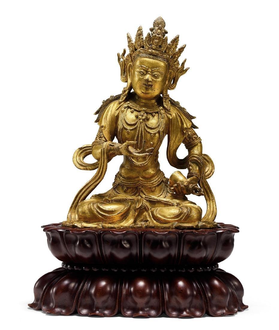 A Fine Gilt-Bronze Figure of Vajradhara 15th