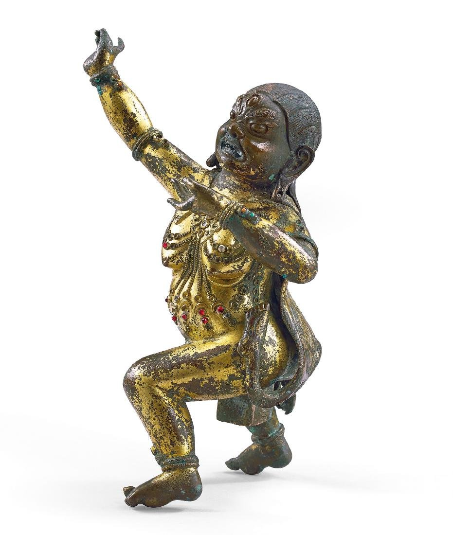 A Gilt-Bronze Figure of Dorje Legpa 17th / 18th