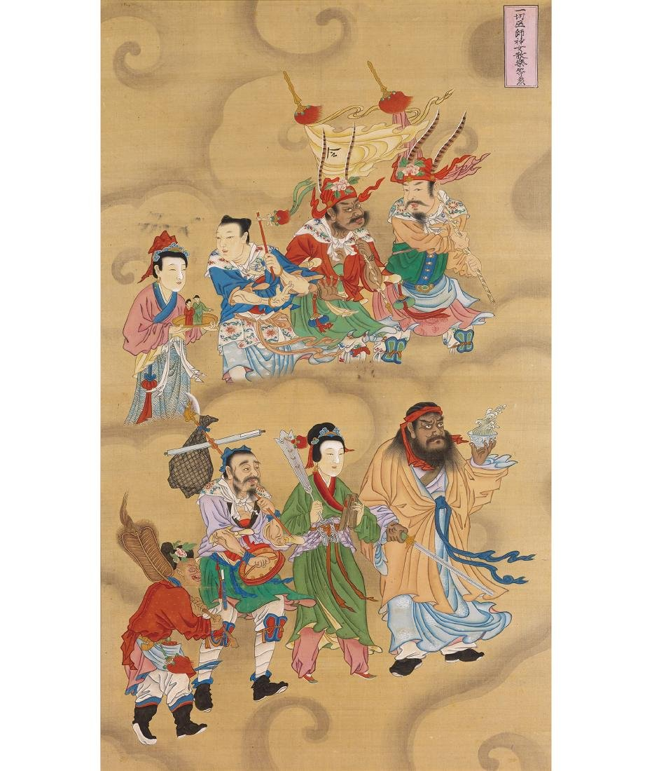 A Set of Six Water and Land Paintings Ming - 2